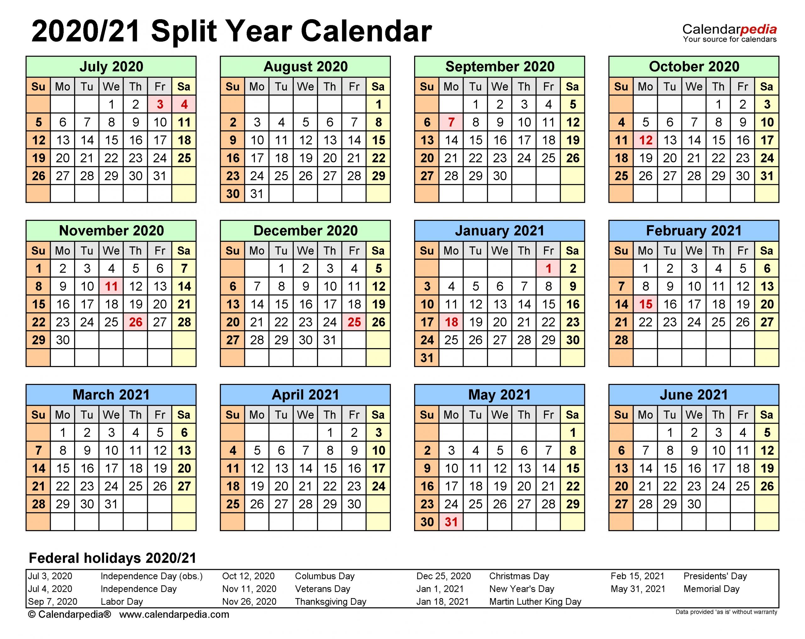 Collect Calendar For August Through December 2021