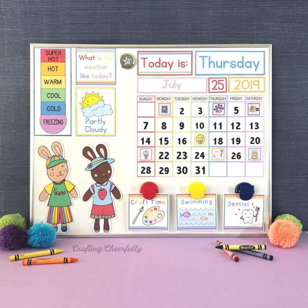 Collect Calendar Free Printable For Kids