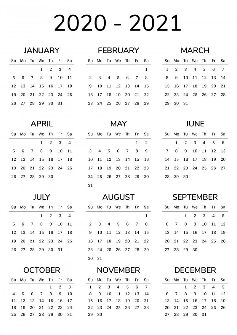Collect Calendar Of August Through December 2021