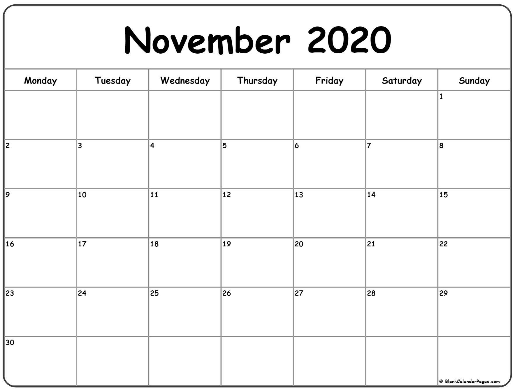 Collect Calendar Print Monday