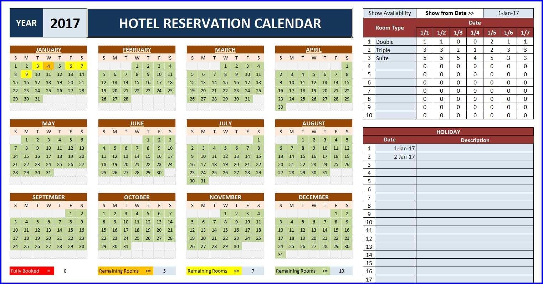 Collect Calendar Slot Kitchen .Xls