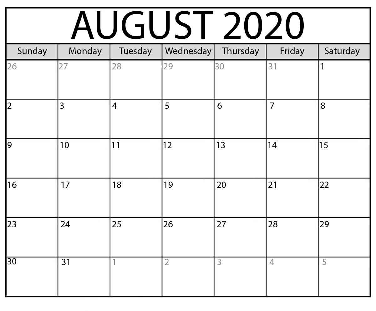 Collect Calendar To Print August To Print
