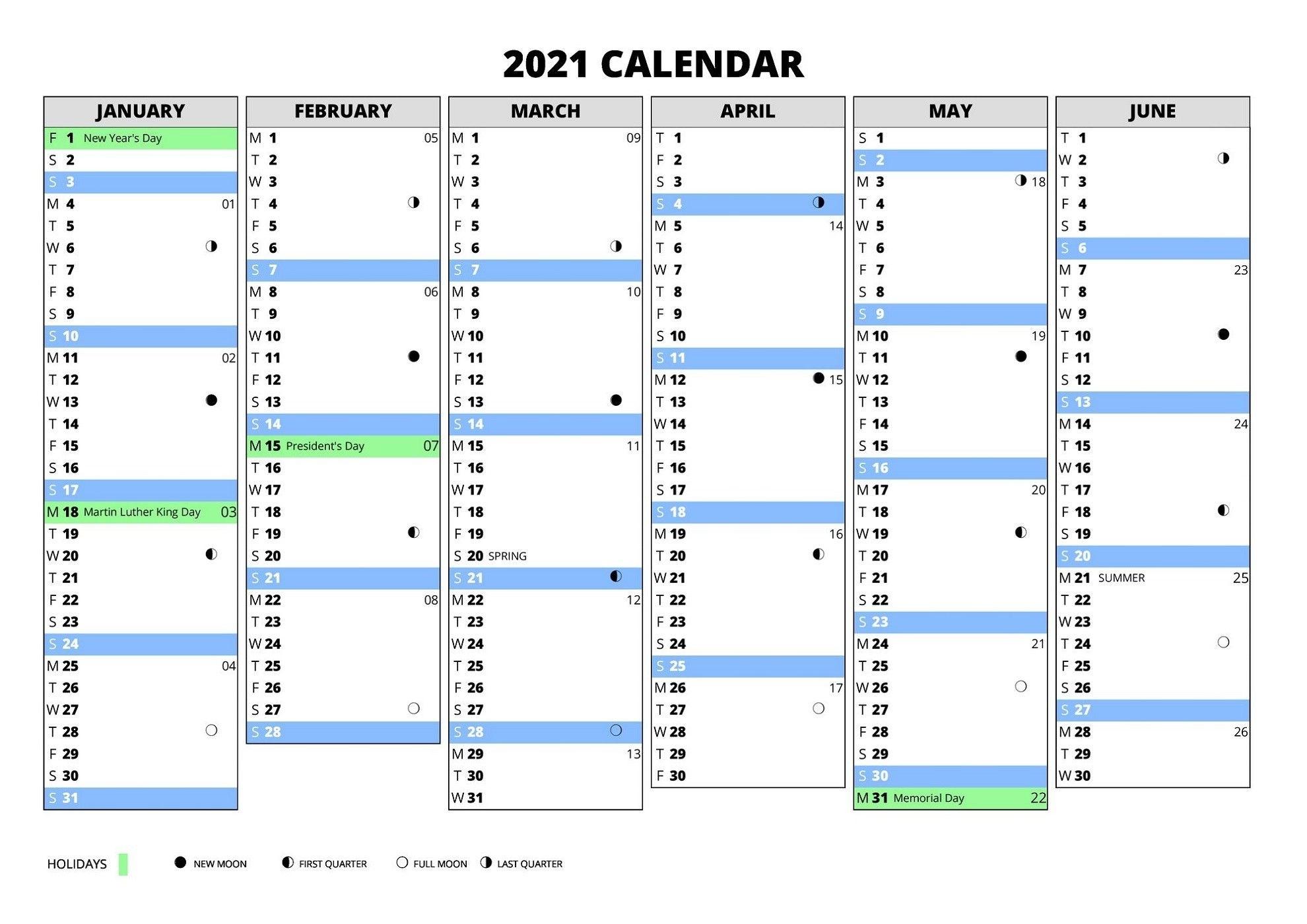 Collect Calendar Weeks 2021 Excel