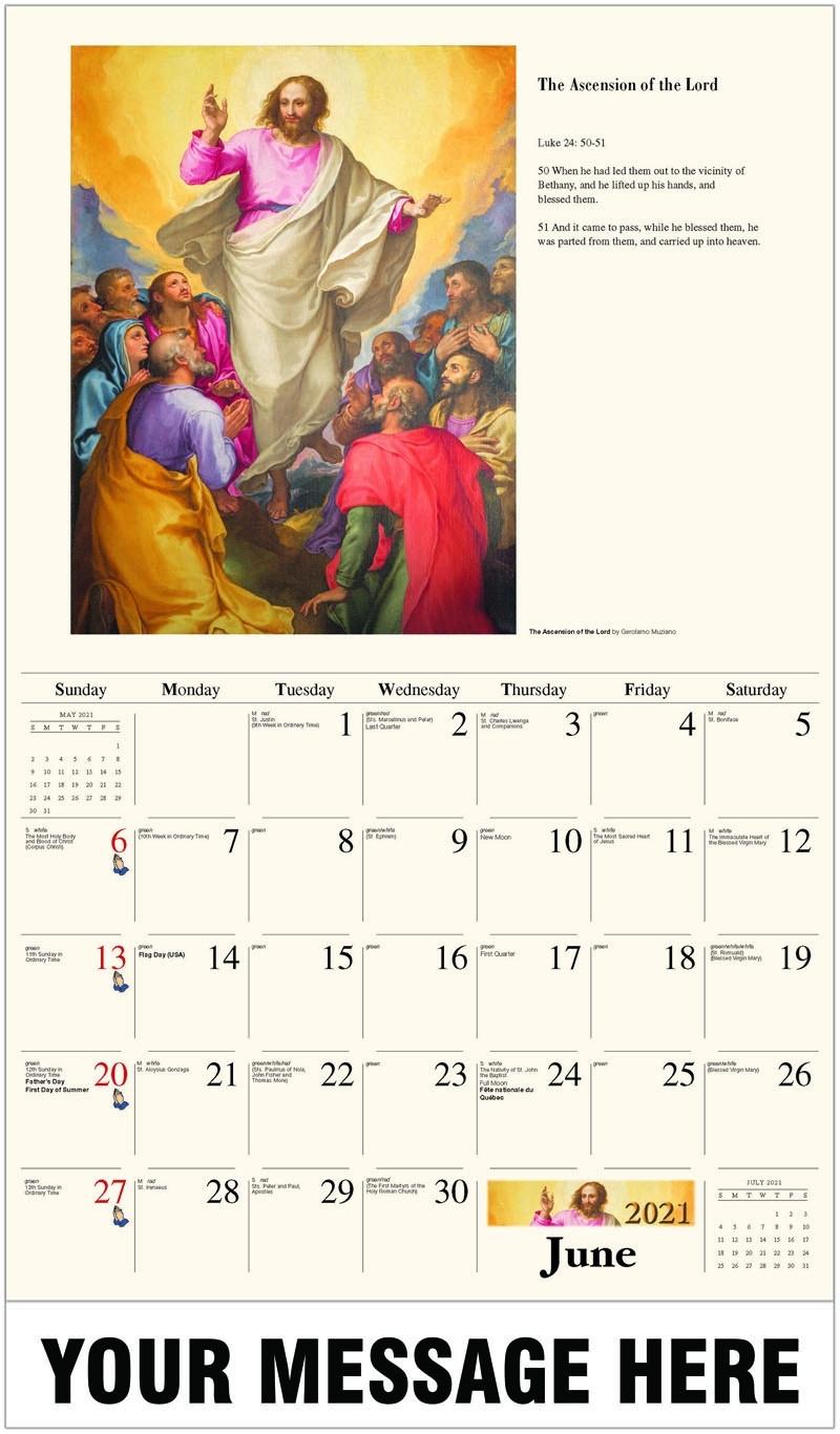 Collect Catholic Calender 2021 Image