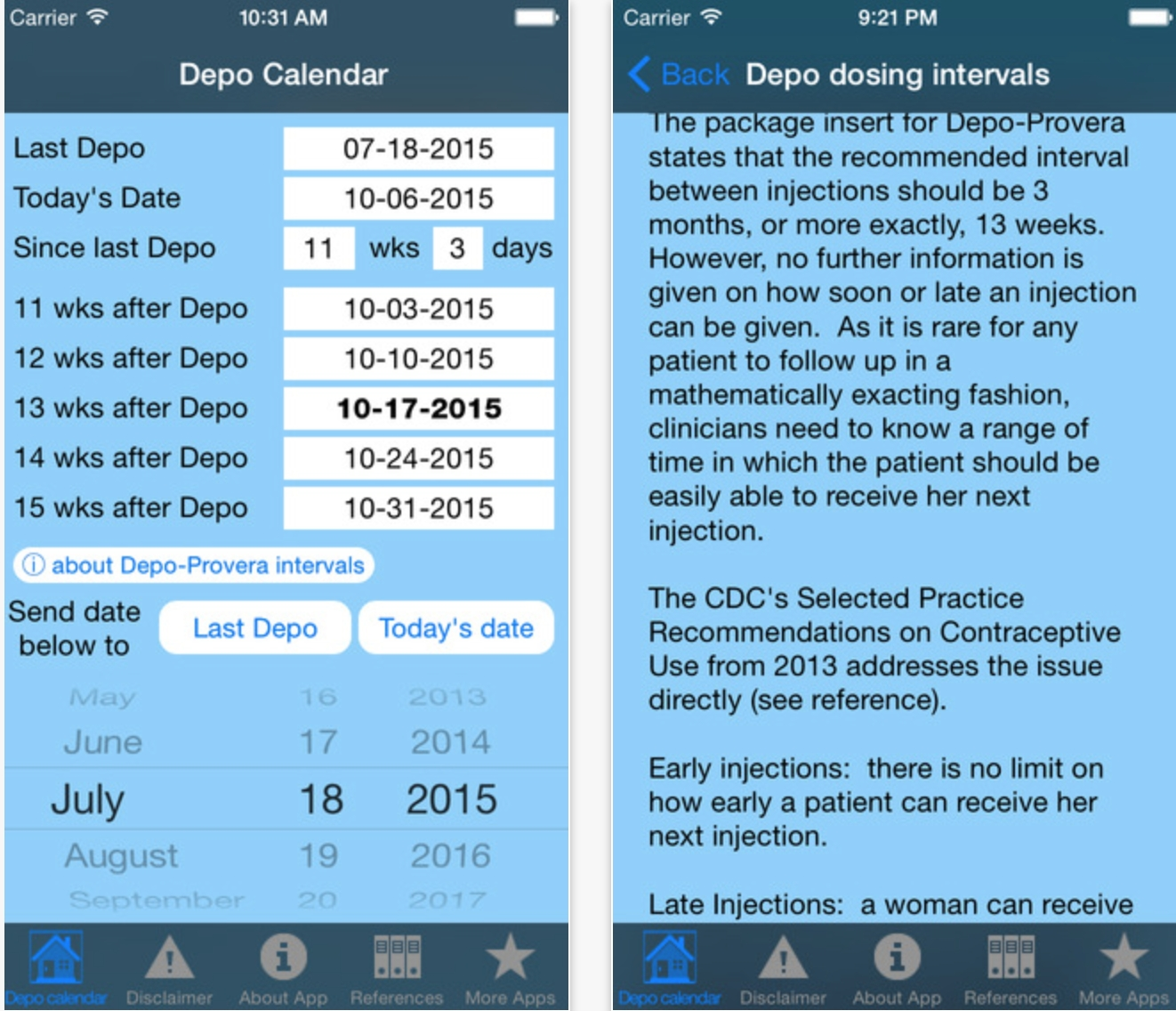Collect Current Depo Calendar