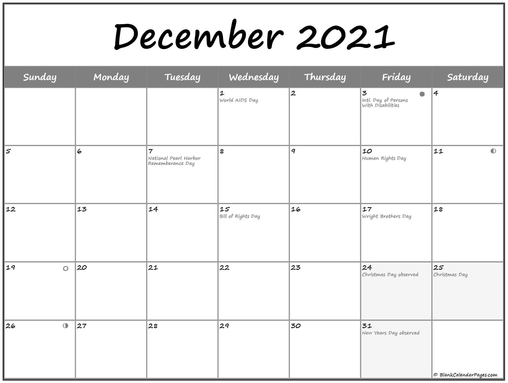 Collect December 2021 Moon Phase
