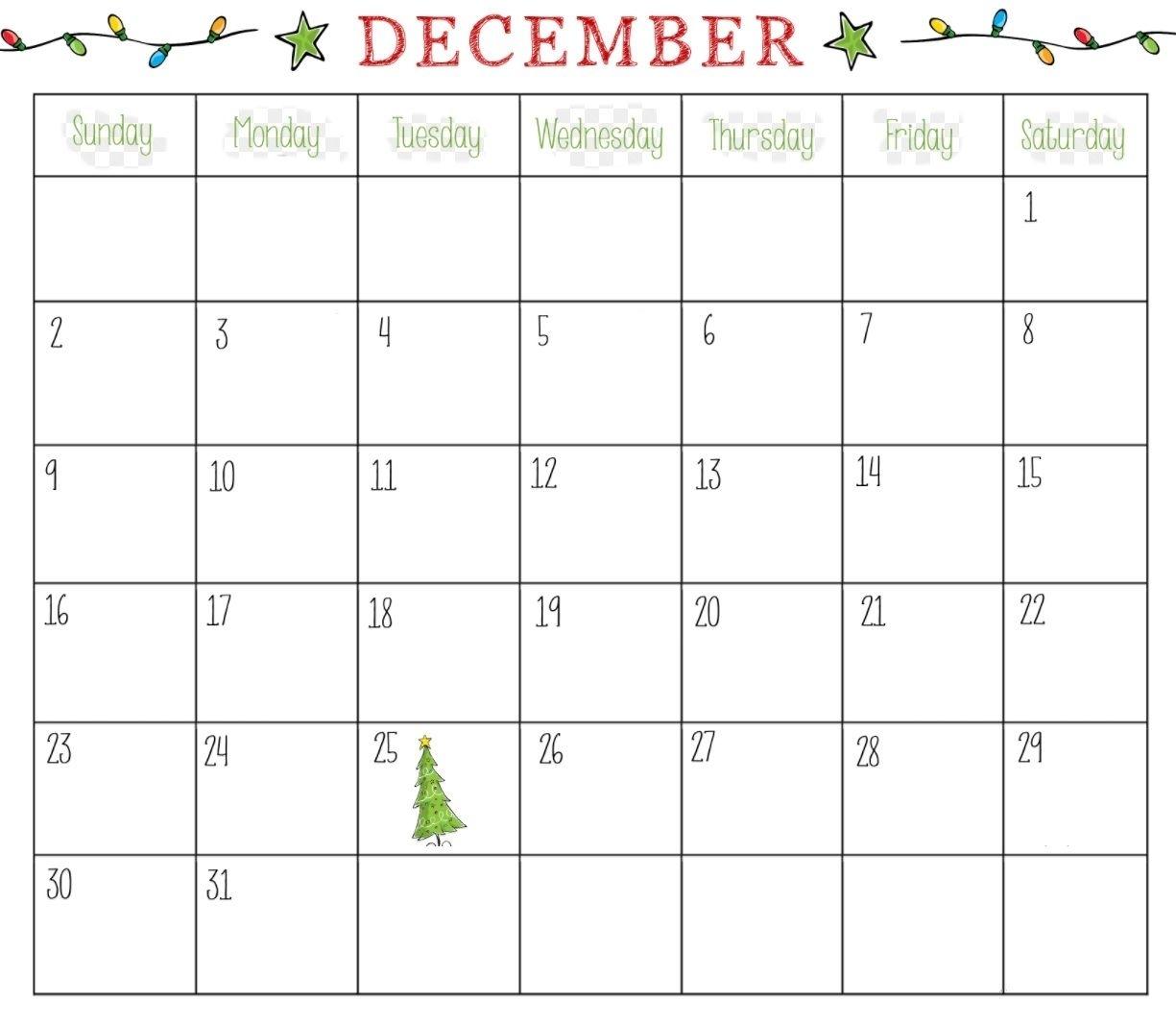 Collect December Christmas Calendar Printable