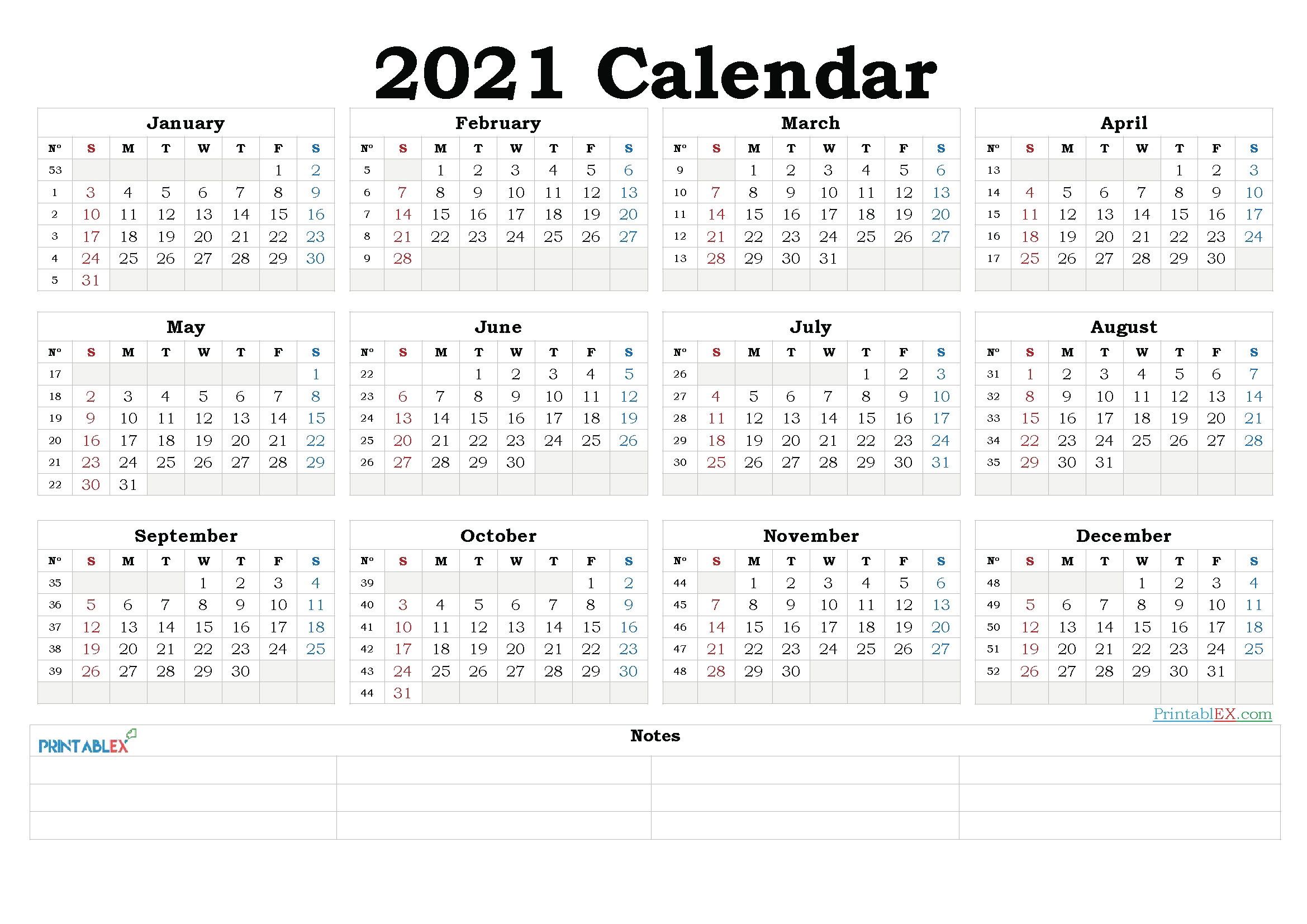 Collect Downloadable Calendar 2021 Word