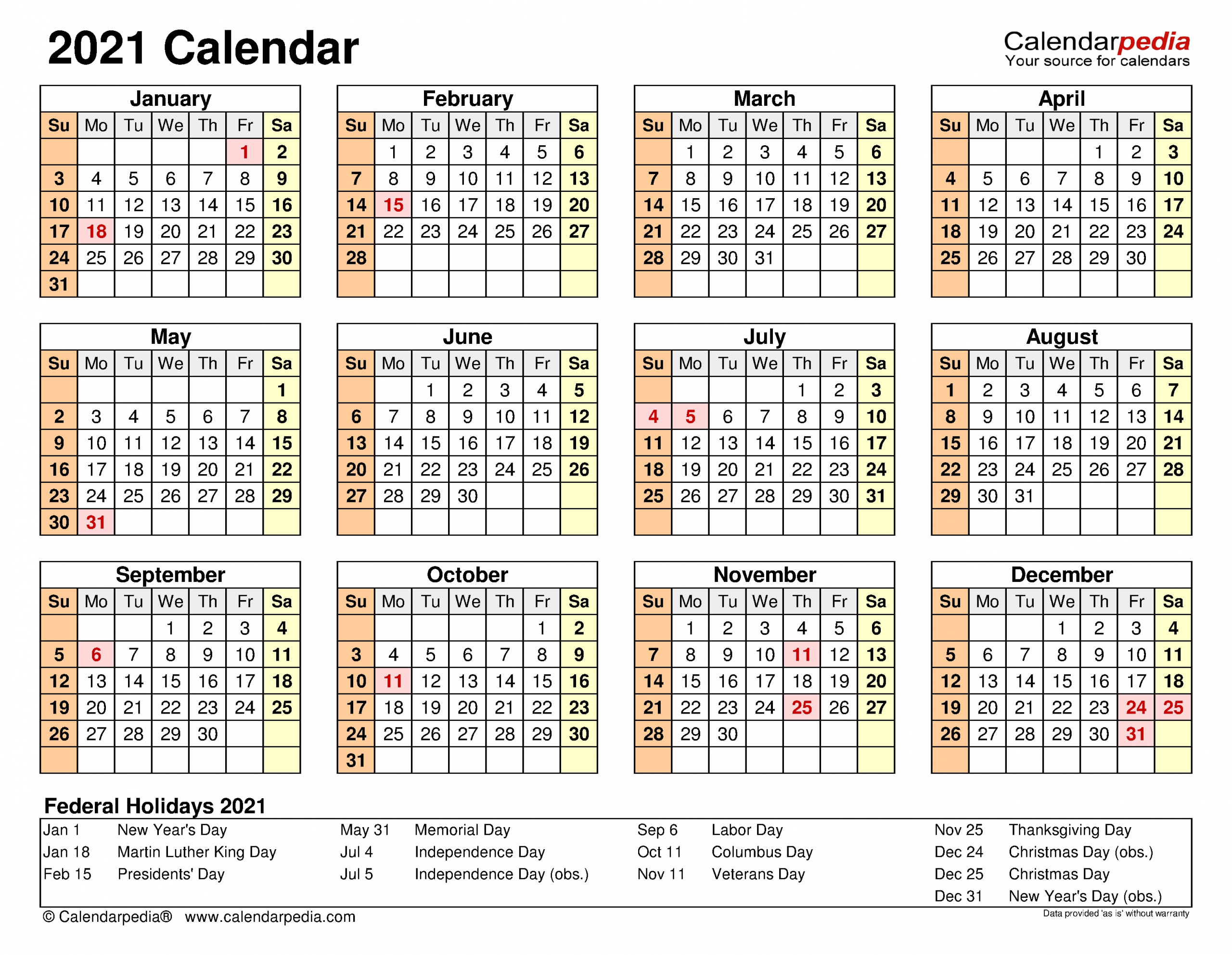 Collect Excel 2021 Calendar Monday To Friday