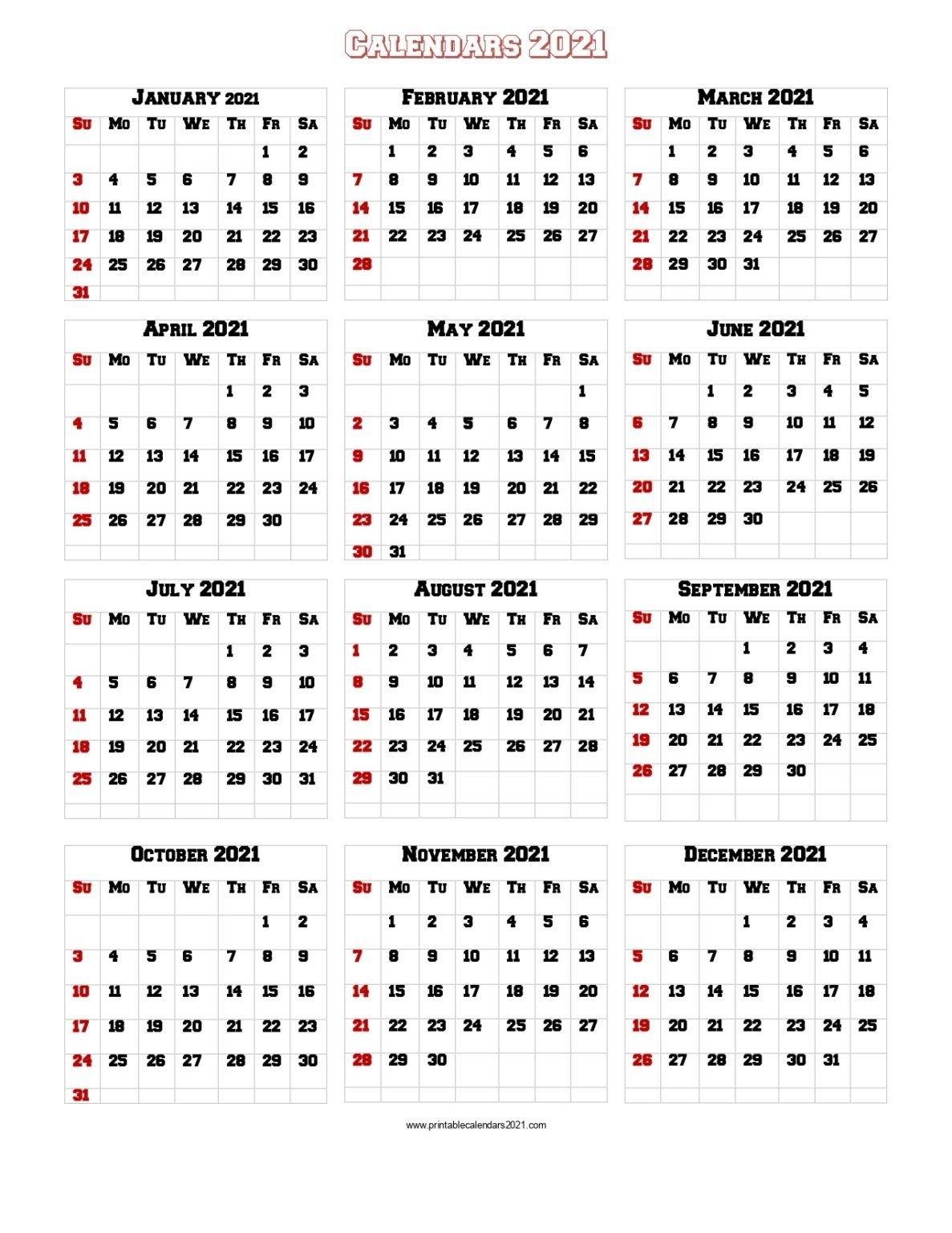 Collect Festive 2021 Printable Calendars