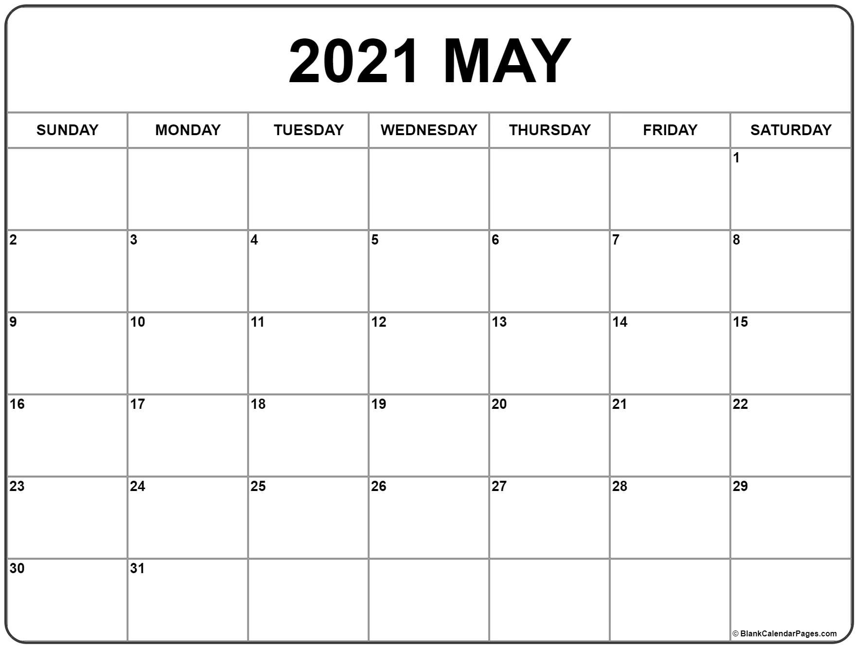 Collect Free 2021 Calendar Monthly Printable