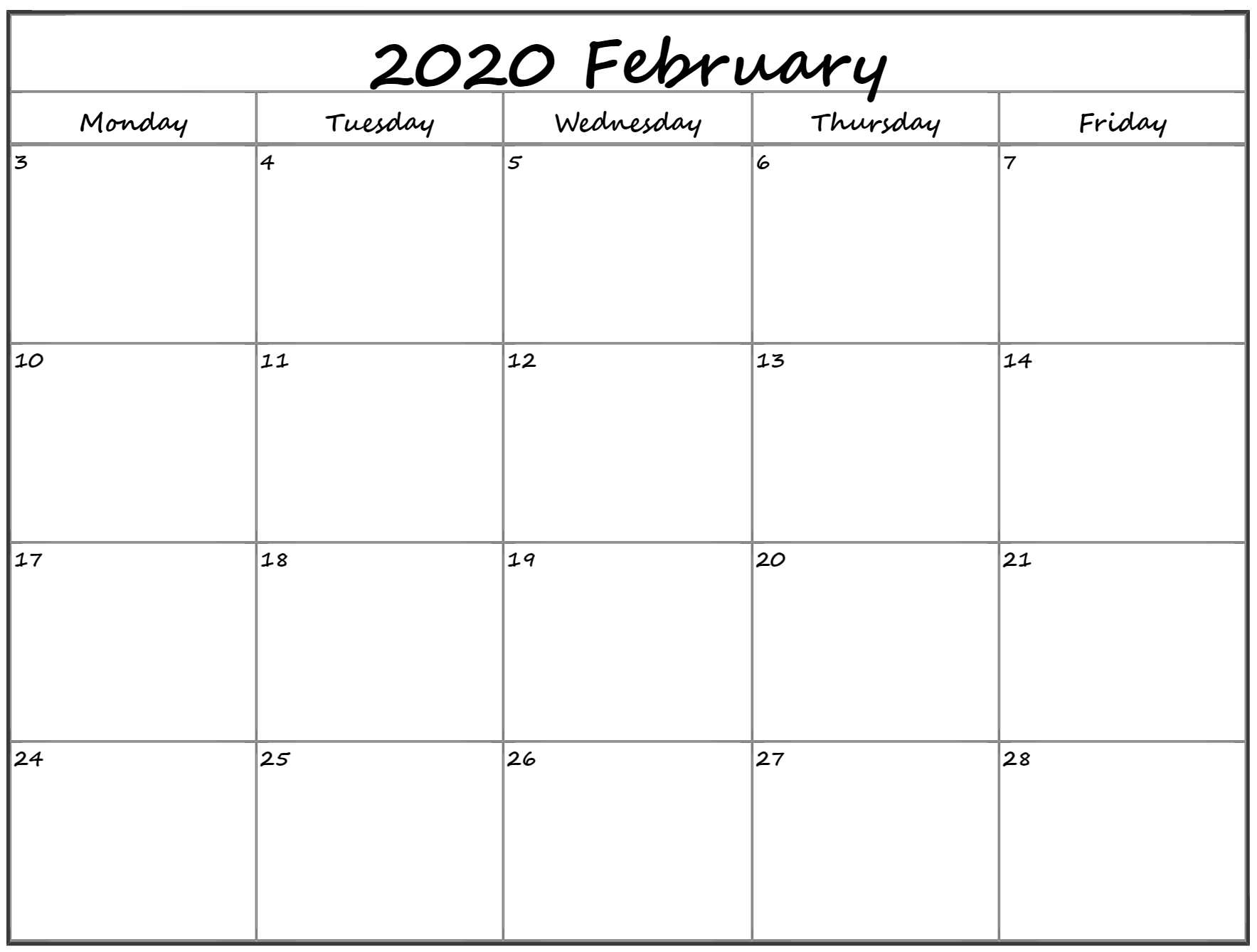 Collect Free Calendars Monday Thru Sunday