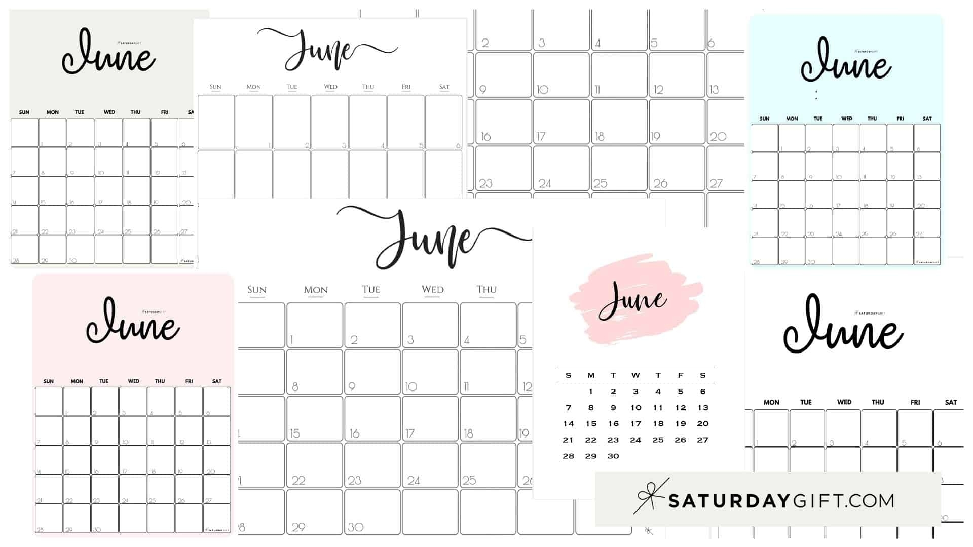 Collect Free Cute Monthly Calendar