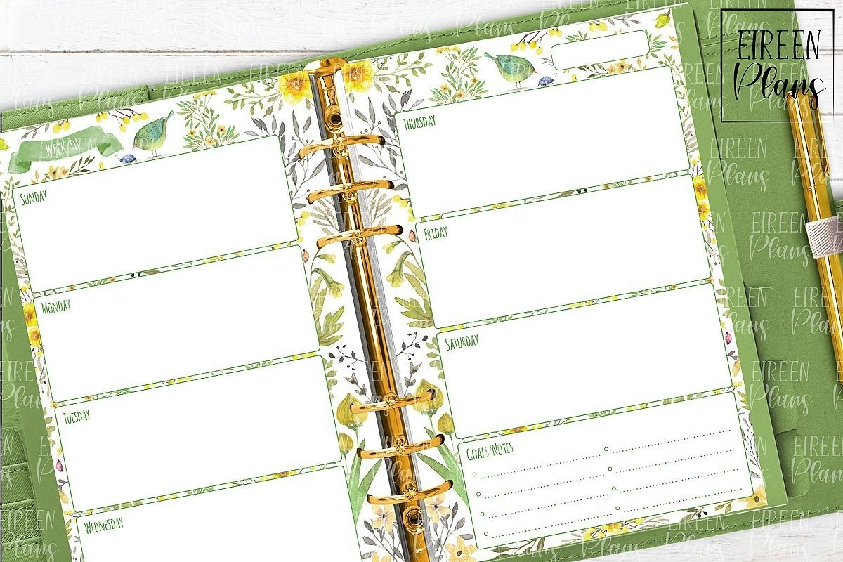 Collect Free Online 5.5X8.5 Planner Pages