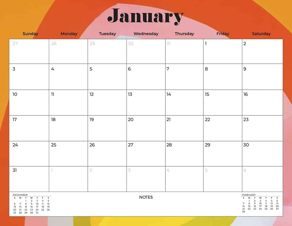 Collect Free Print 2021 Calendars Without Downloading