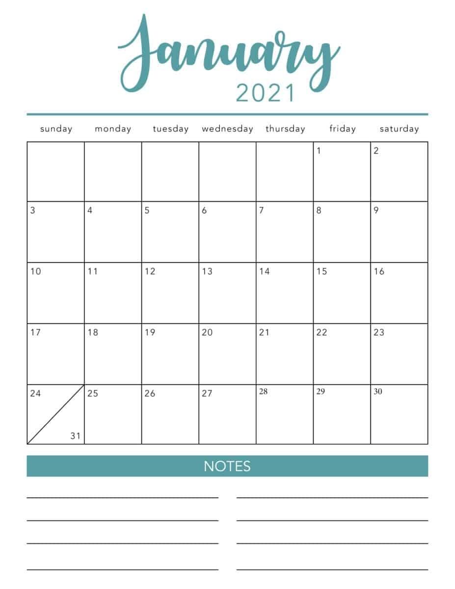 Collect Free Printable Calendar 2021