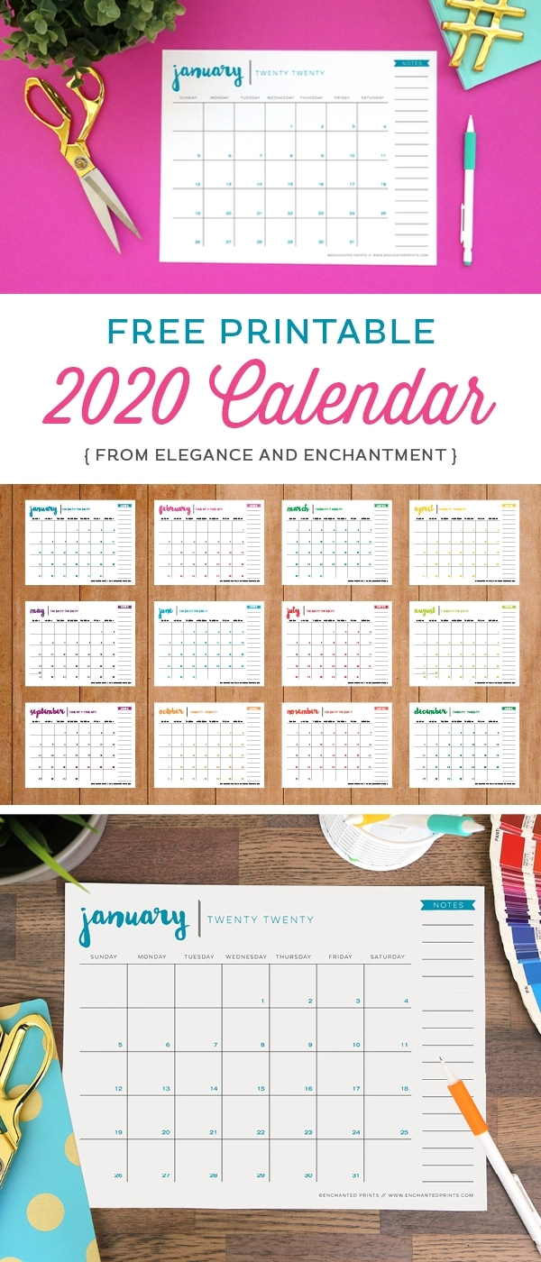 Collect Free Printable Calendar No Download Required