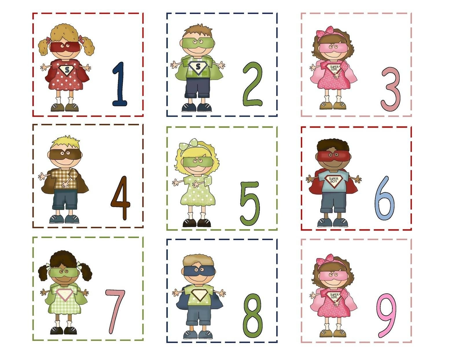 Collect Free Printable Calendar Numbers 1 31