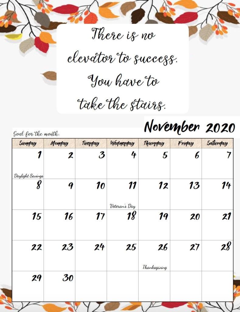 Collect Free Printable Inspirational Calendar