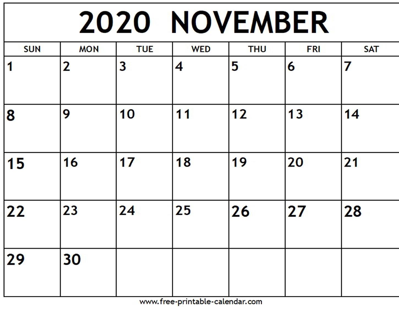 Collect Free Printable November Calendar
