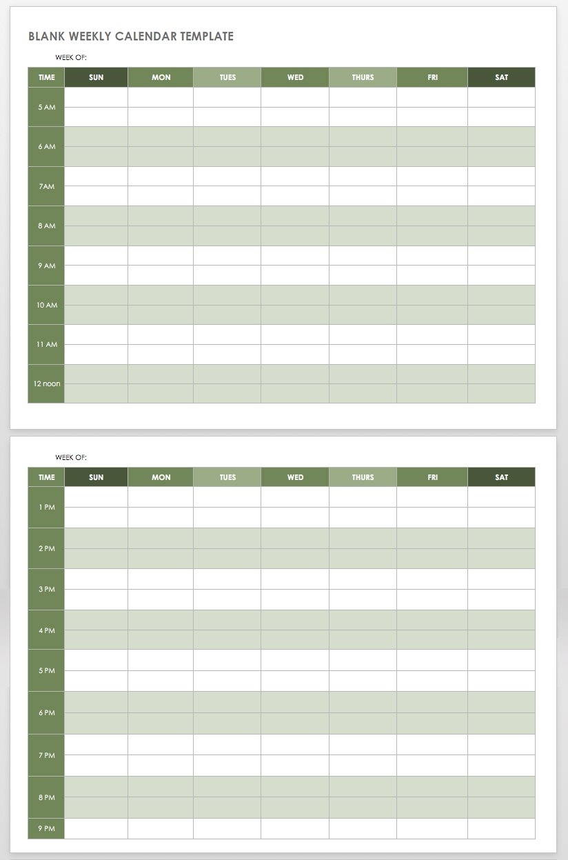 Collect Free Printable Weekly Appointment Planner Two Every 15 Minutes