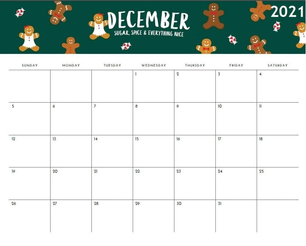 Collect Imom 2021 Gingerbread Calendar