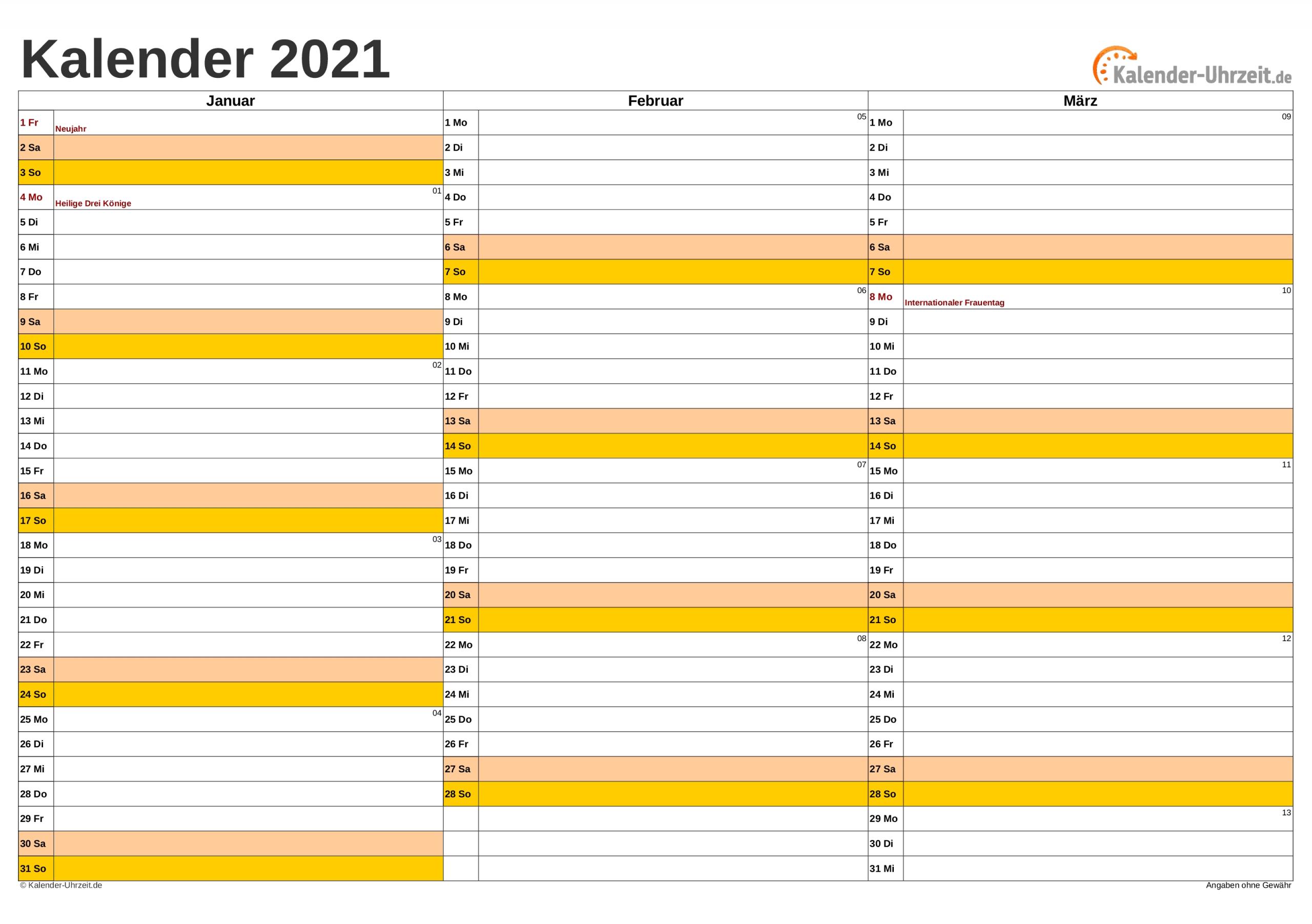Collect Jahreskalender 2021 Gross
