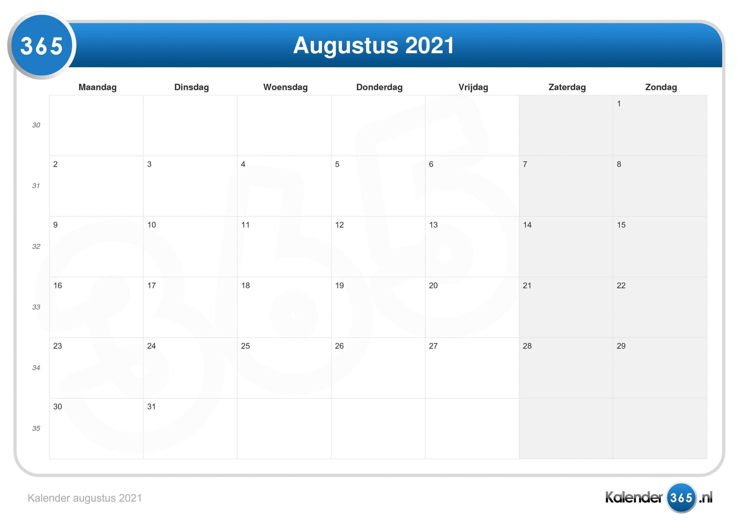 Collect Kalender 2021 Augustus September
