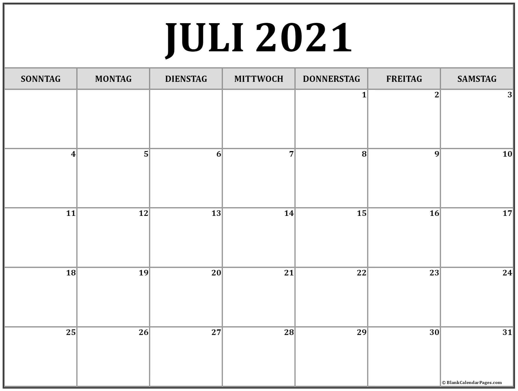 Collect Kalender 2021 Juli August