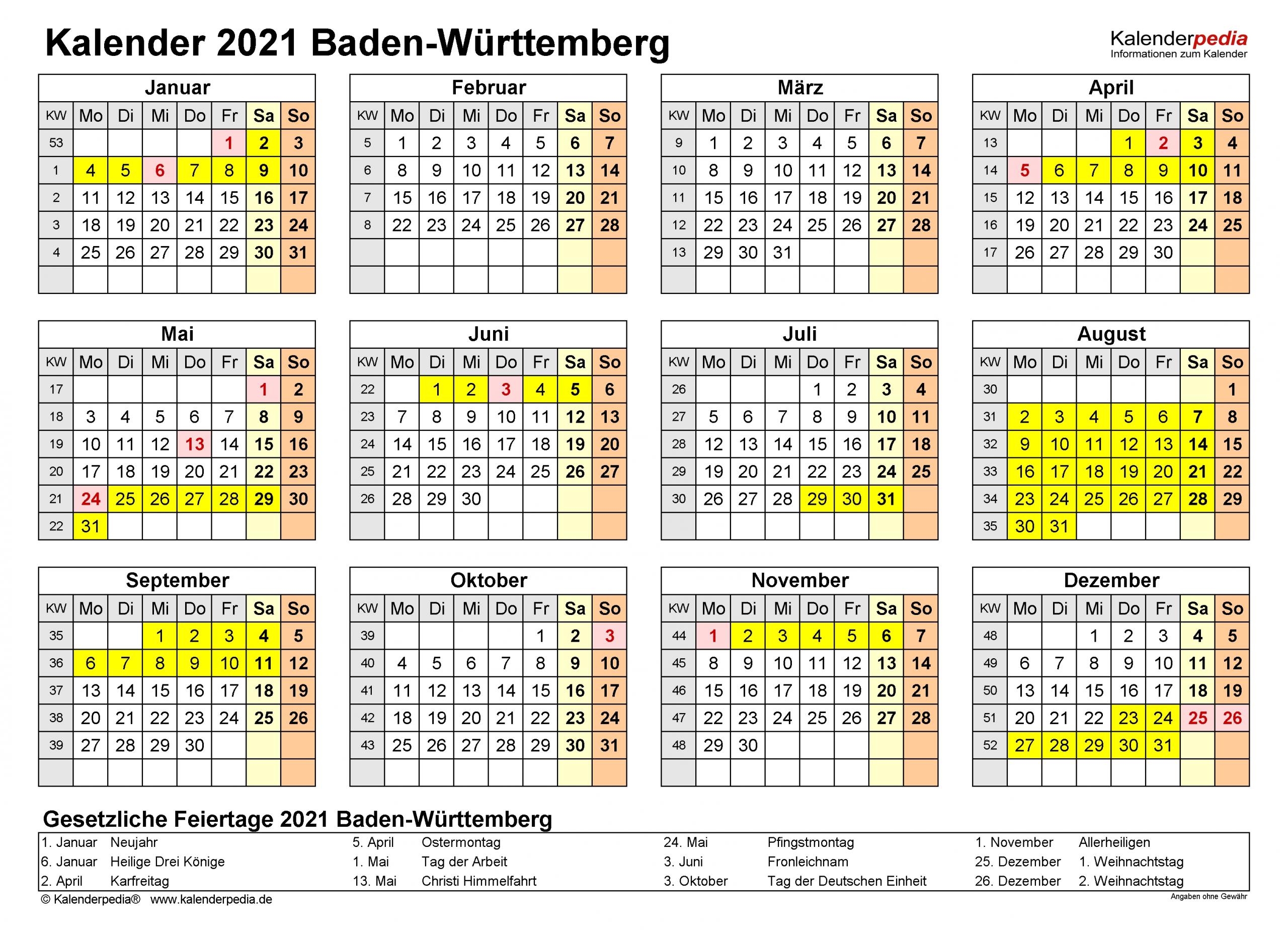 Collect Kalender 2021 Zum Ausdrucken Kostenlos Baden Württemberg