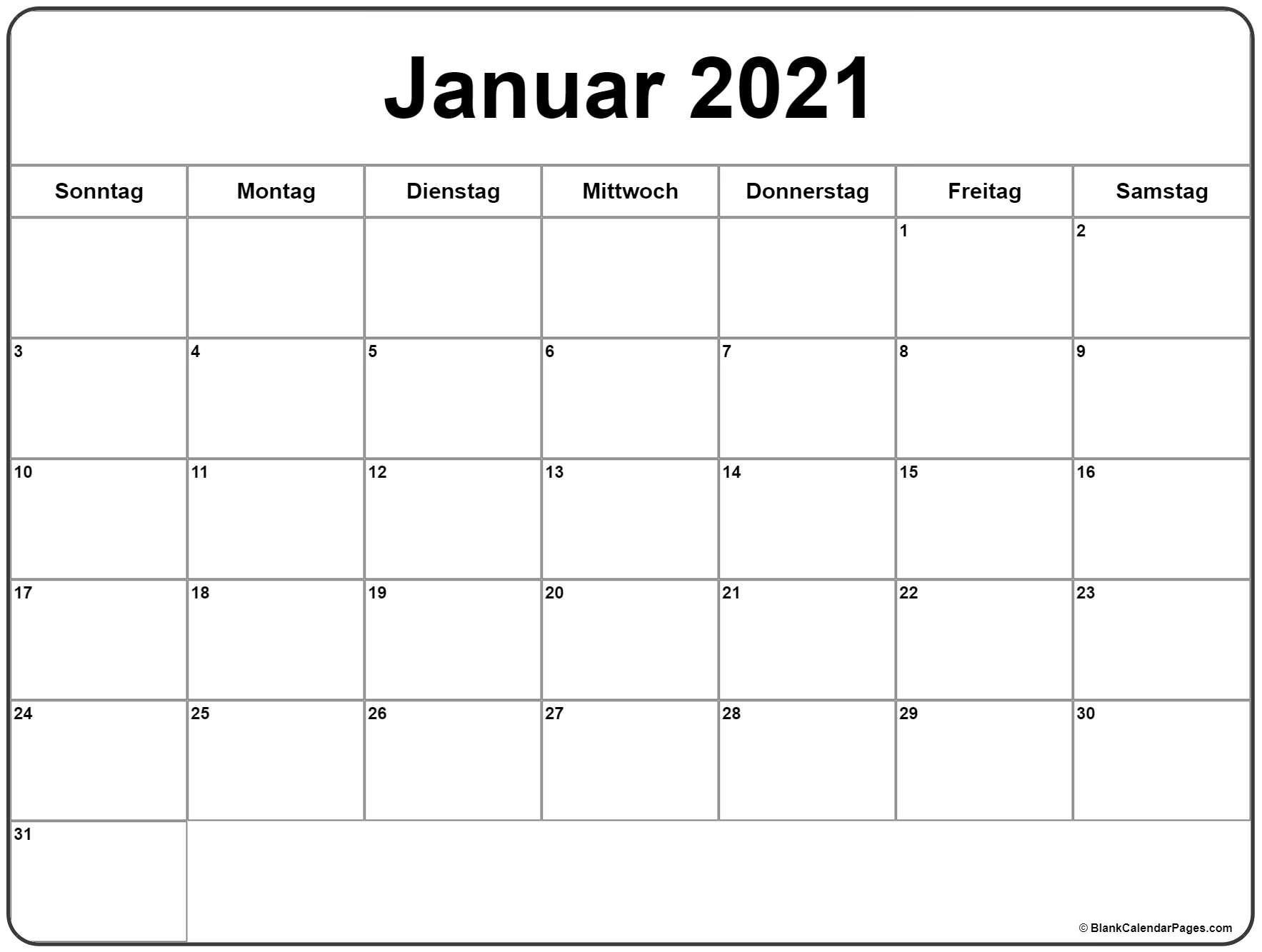 Collect Kalender 2021 Zum Ausdrucken