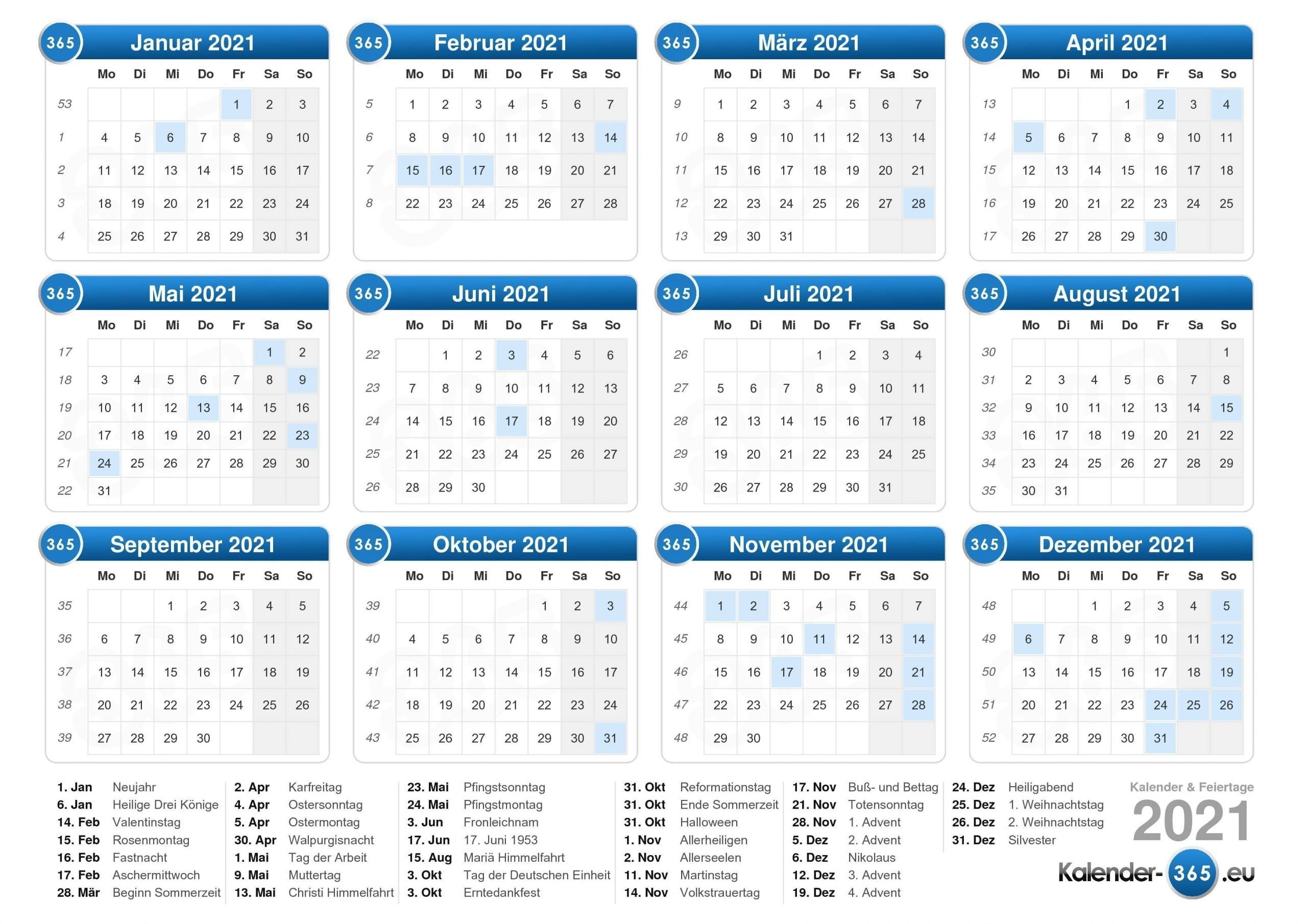 Collect Kalender Deutsch 2021