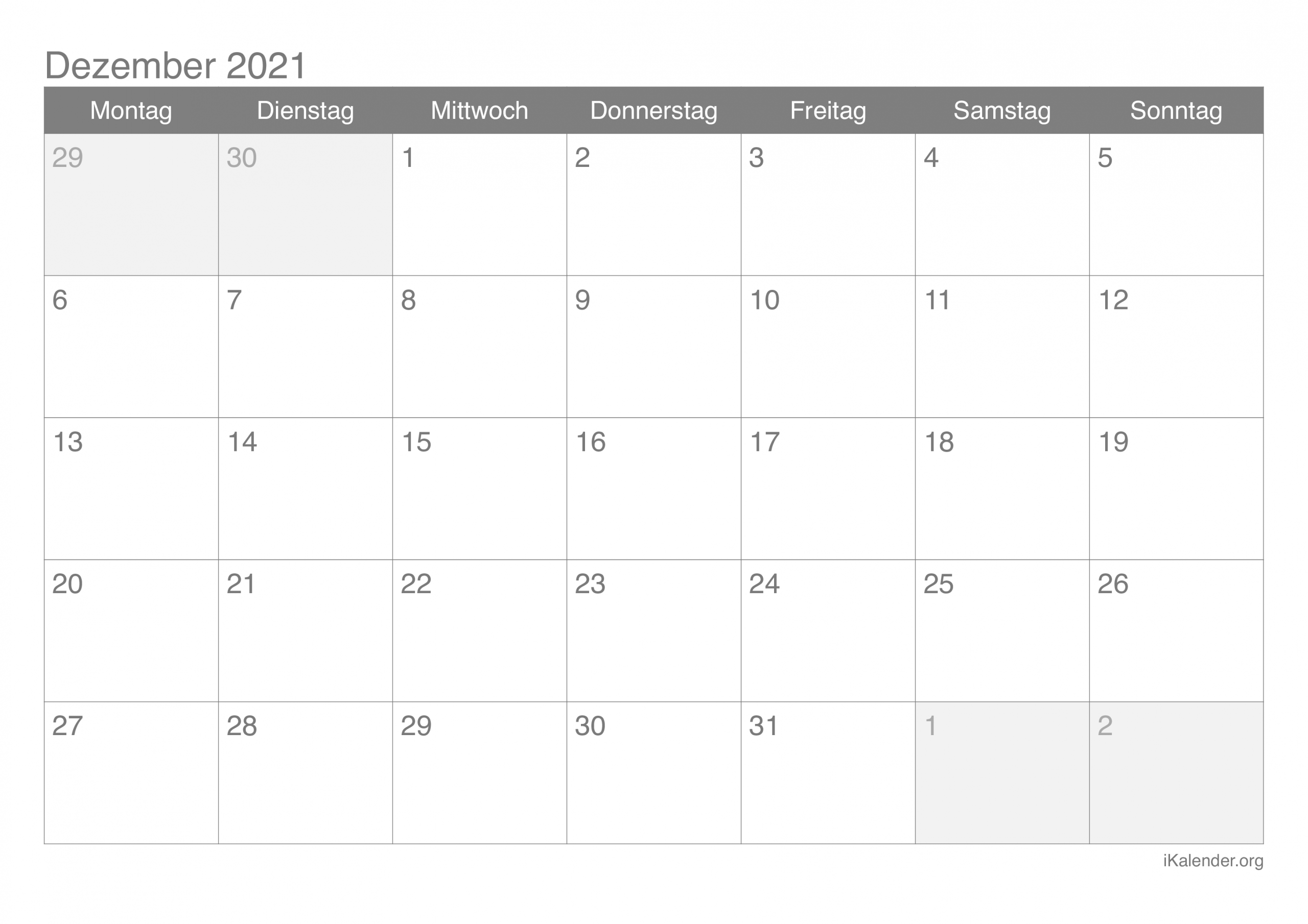 Collect Kalender Dezember 2021 Zum Ausdrucken