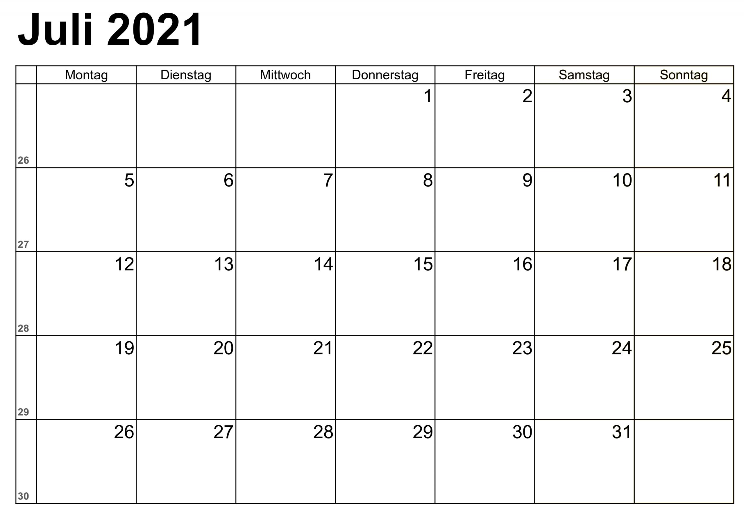 Collect Kalender Juli 2021