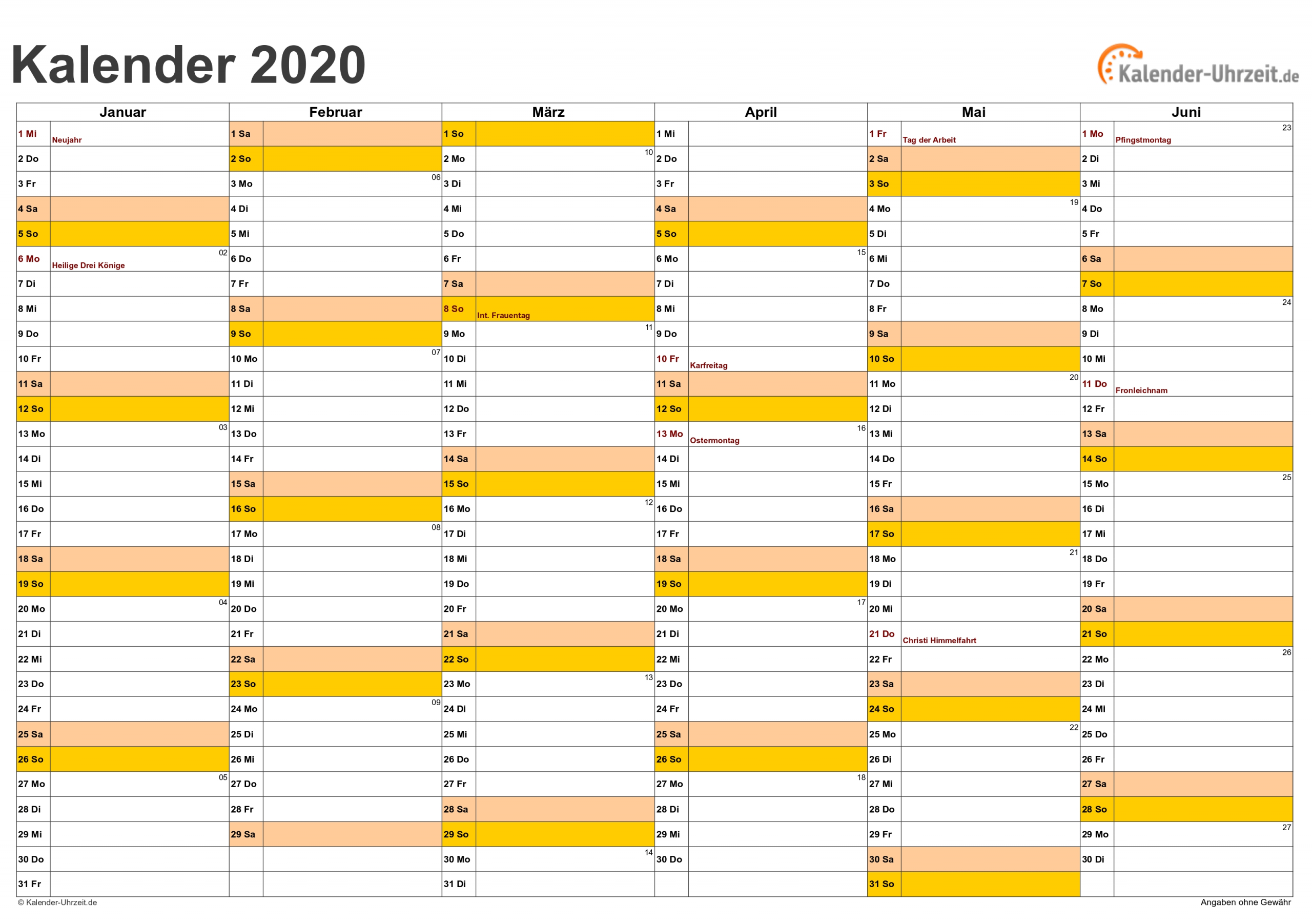 Collect Kalender Zum Bearbeiten