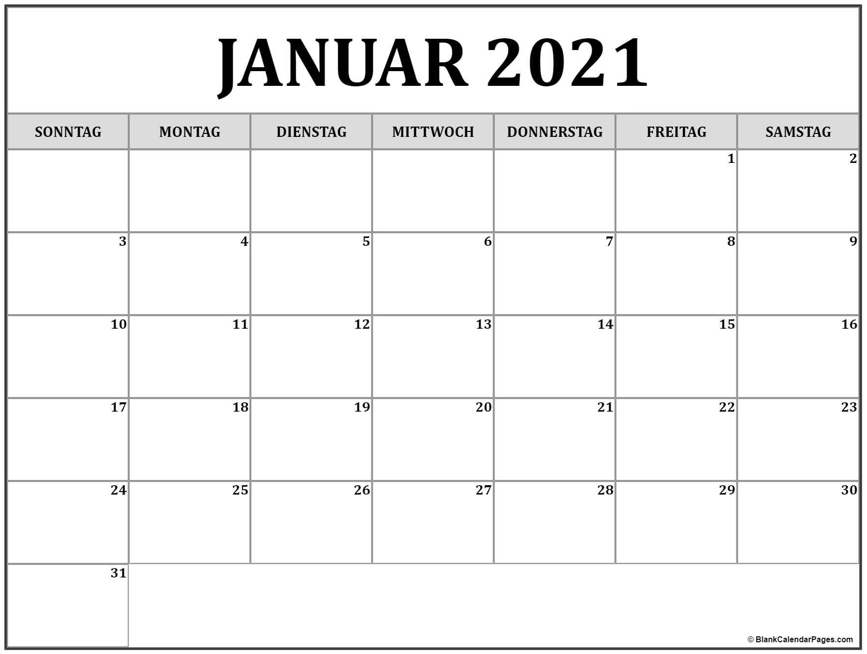 Collect Kalenderblätter Monat 2021 Drucken