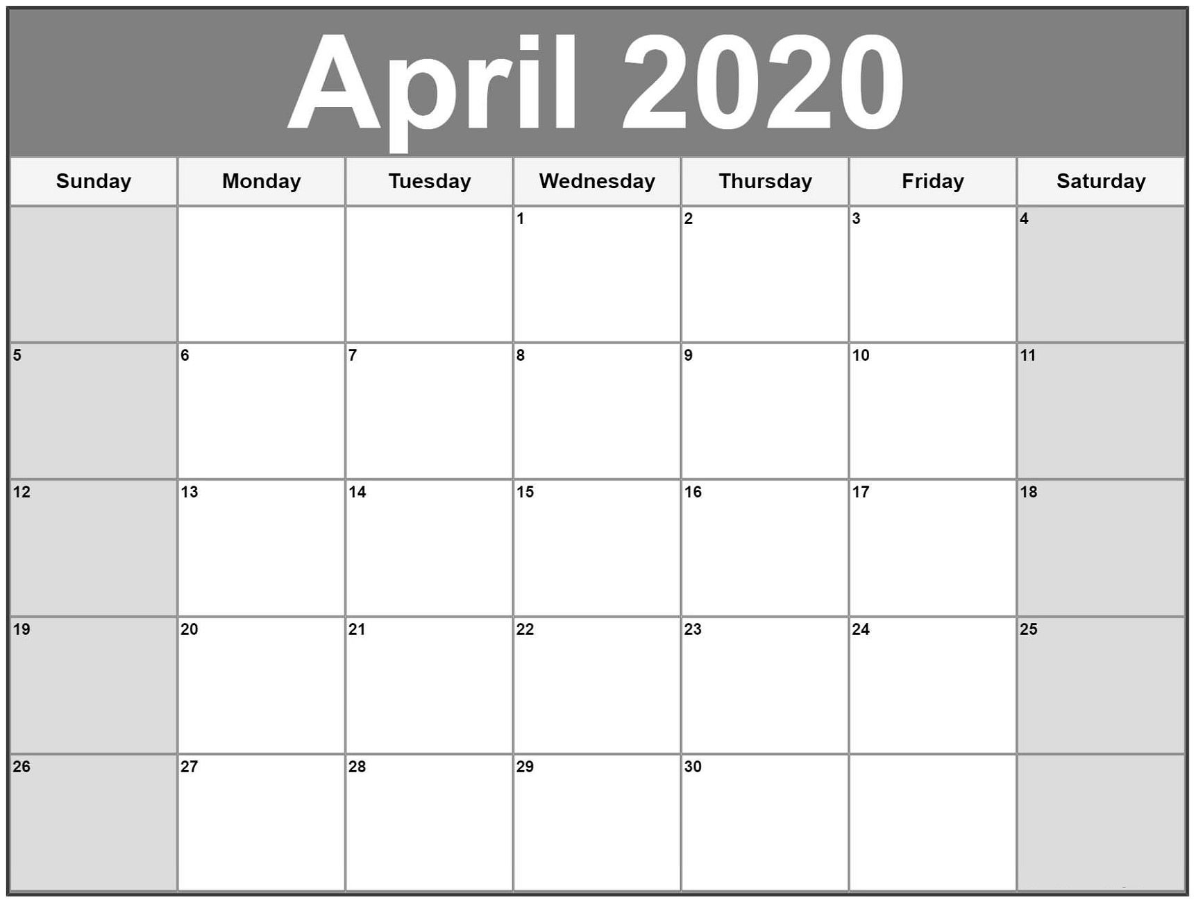 Collect Large Blank Monthly Calendar Template