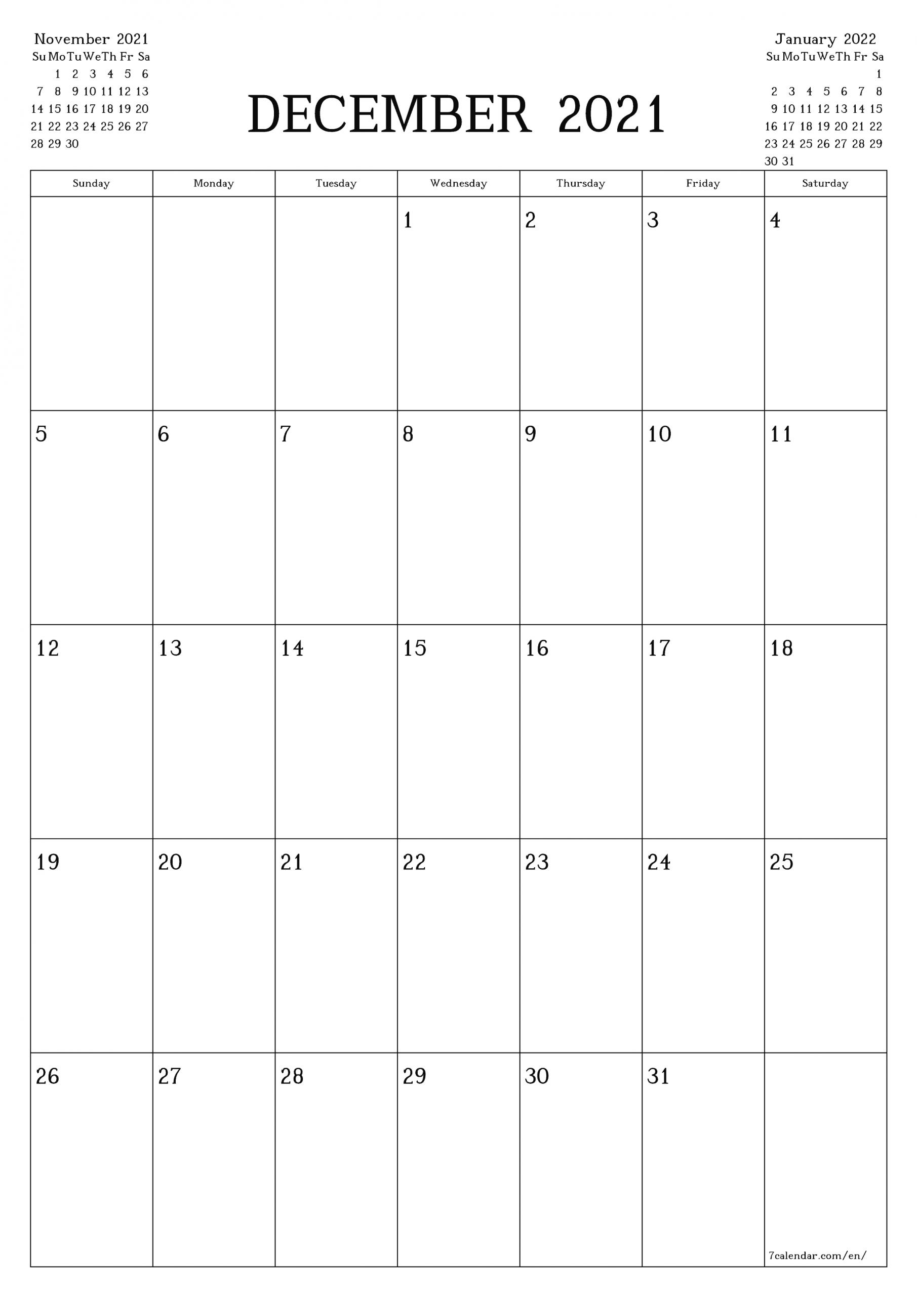 Collect Legal Size December 2021 Calendar
