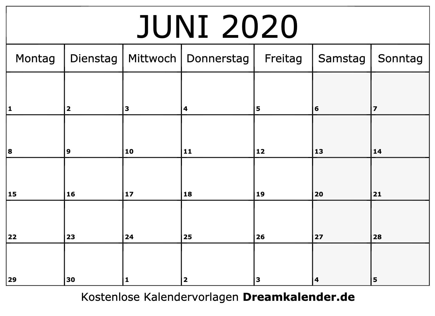 Collect Monatsplan Juni 2021 Vorlage