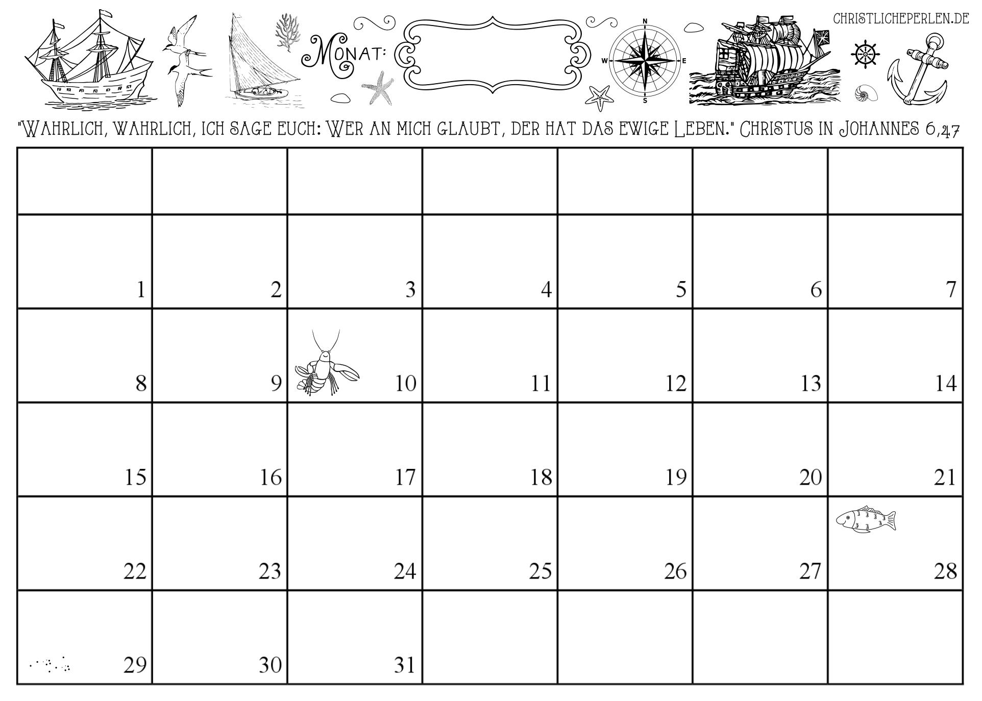 Collect Monatsplaner Zum Ausdrucken 209
