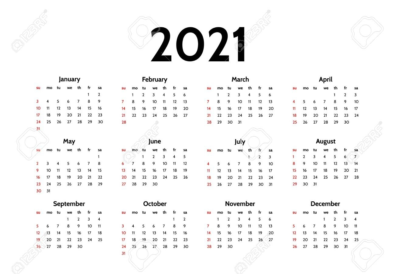 Collect Monday To Sunday Calendar 2021