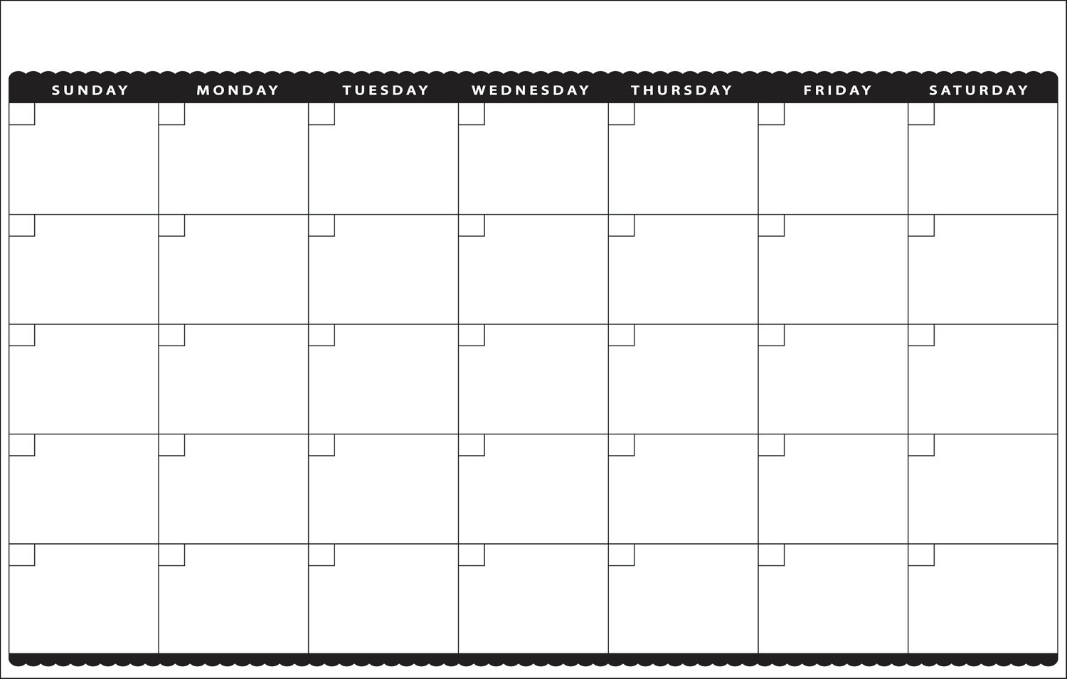 Collect Month At A Glance Blank Calendar Template