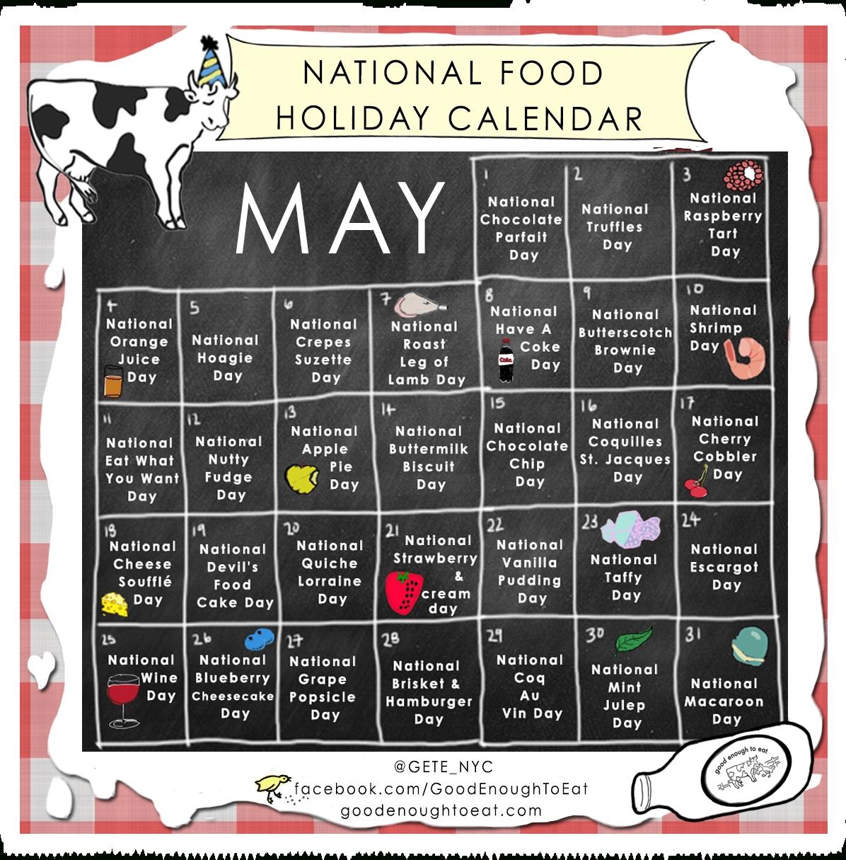 Collect National Food Day Calendar Printable
