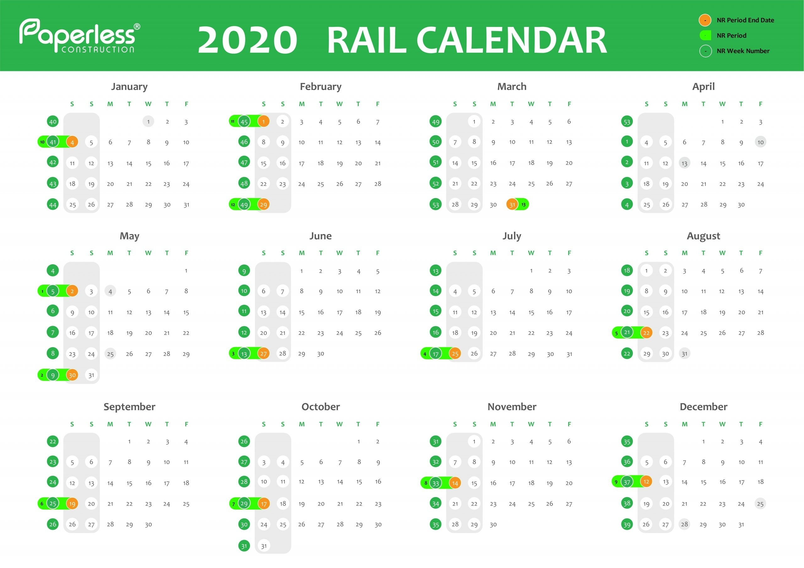 Collect Network Rail Week Numbers 2021