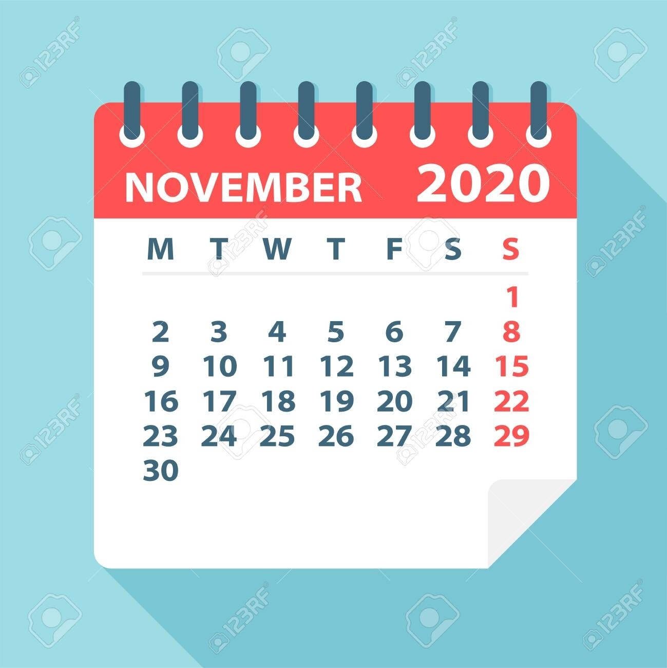 Collect November Calendar Clip Art