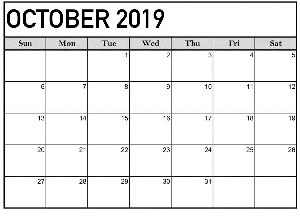 Collect October Outlook Calendar