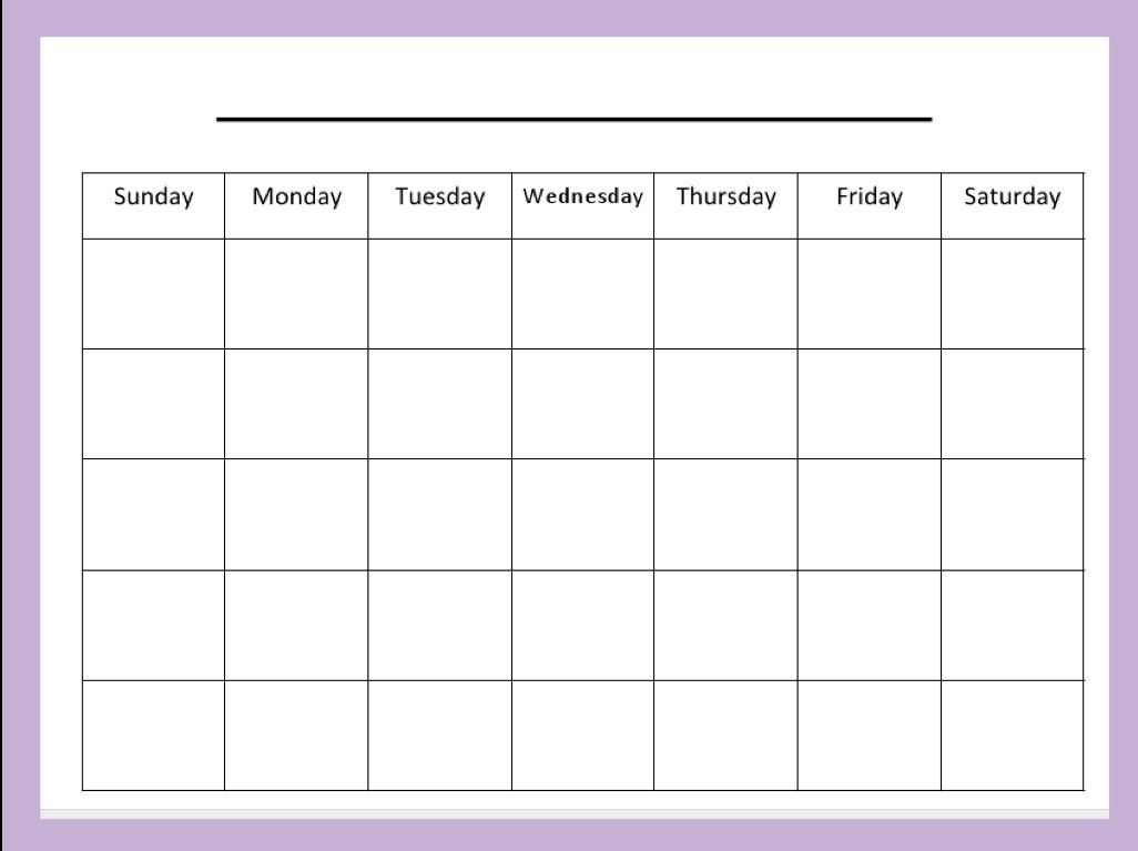 Collect Peek At The Week Template