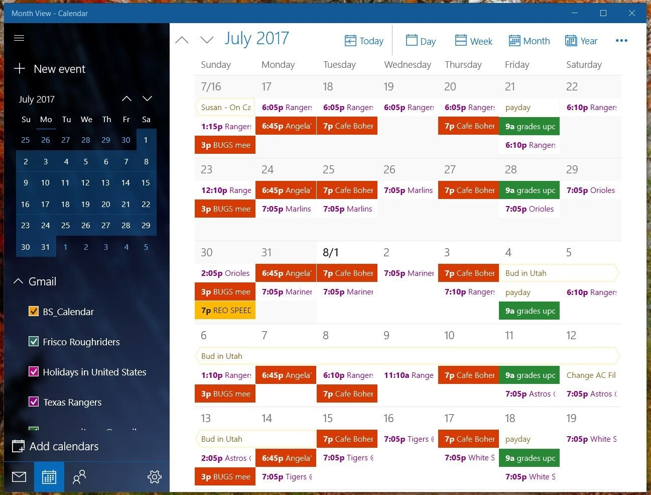 Collect Pitman Work Calendars