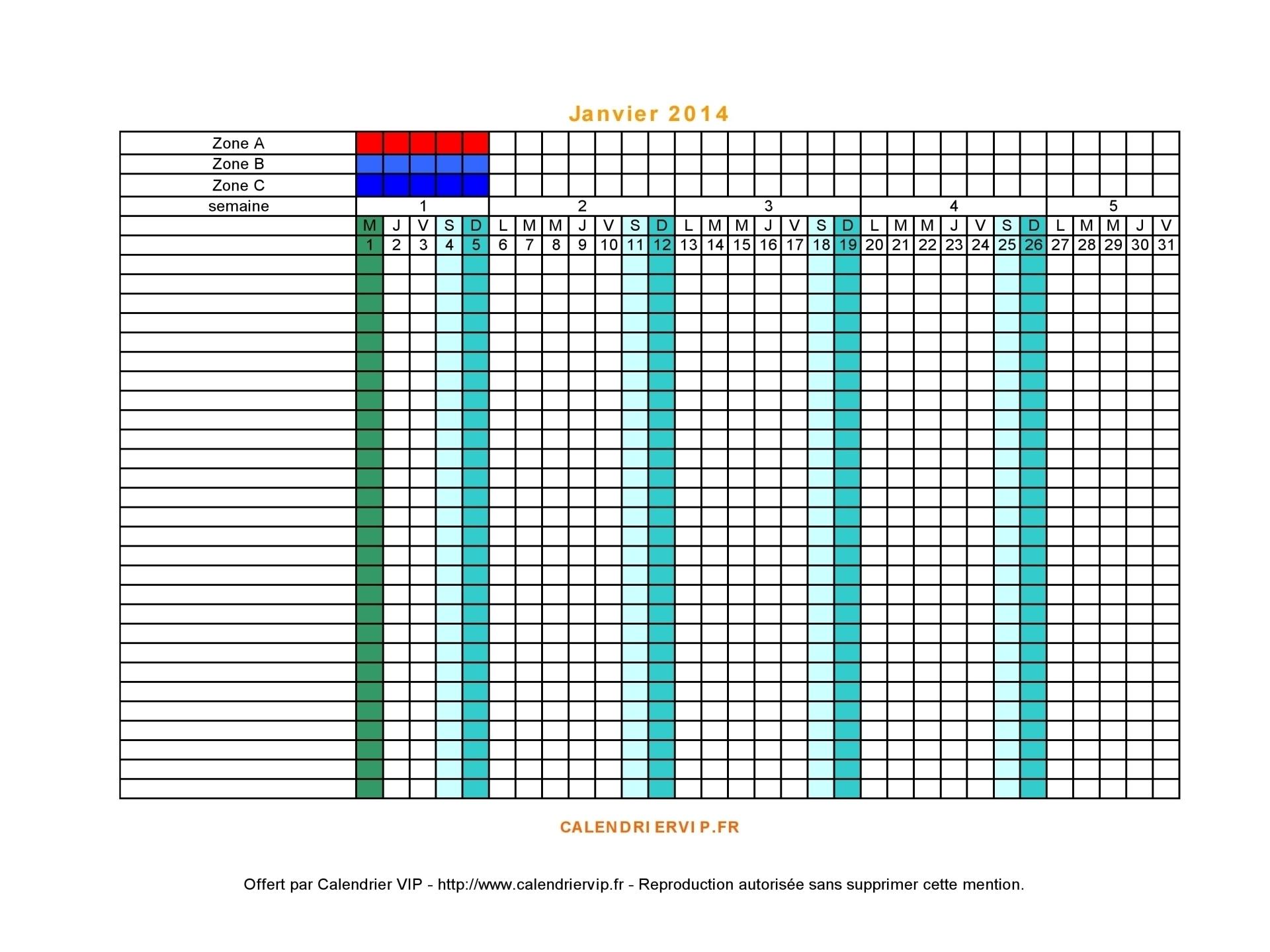 Collect Planning Mensuel Gratuit À Imprimer