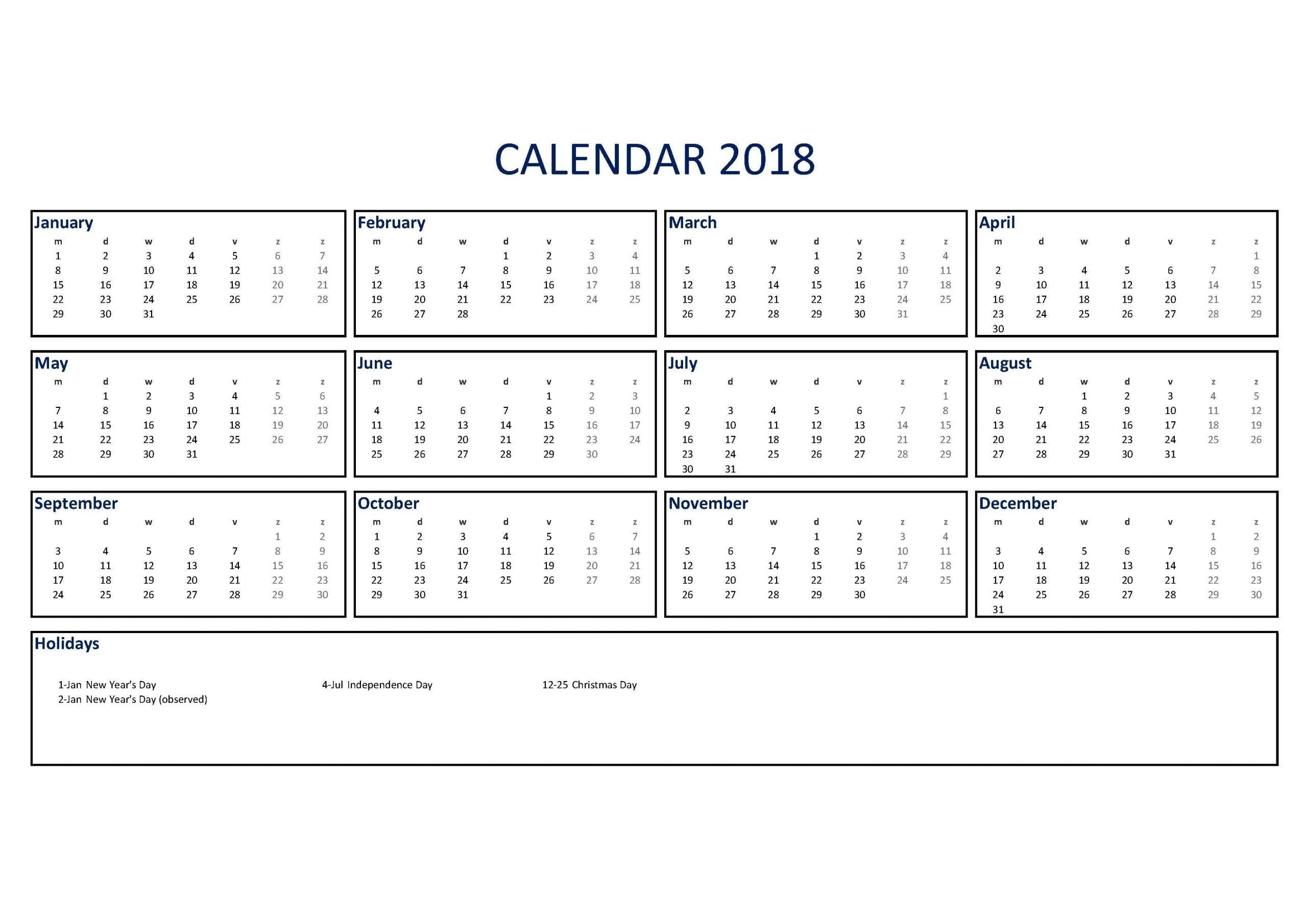 Collect Pocket Sized Calendar Excel